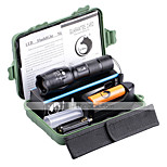 Ultrafire ZQ-X1076R#1-US G7000 5Modes Zoomable Multifunction Flashlight Torch Kit with Battery and Charger