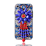 Per Con diamantini Fantasia/disegno Fai da te Custodia Custodia posteriore Custodia Fiore decorativo Morbido TPU per AppleiPhone 7 Plus