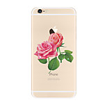 Per Transparente Fantasia/disegno Custodia Custodia posteriore Custodia Fiore decorativo Morbido TPU per AppleiPhone 7 Plus iPhone 7