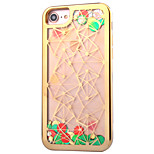 For Apple iPhone 7 7Plus 6S 6Plus Case Cover The New Lingge Pattern TPU Material Plating Process Flash Powder Flow Sand Phone Case