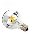 1PCS 6W E27/B22 Half Silver Cover LED Filament Bulbs G95 6 COB 600 lm Warm White Dimmable AC 220-240 or AC 110-130 V