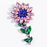 Women's Brooches Alloy Basic Fashion Flower Yellow Rose Pink Jewelry Daily