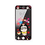 For Apple iPhone 7 Plus 5.5 Inch Tempered Glass Screen Protector with Soft Edge Full Screen Coverage Front Screen Protector Cartoon Pattern