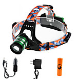 U'king ZQ-G70000CGreen CREE T6 LED 2000LM 3Mode Adjustable Focus Headlamp Bike Light Kit for Camping/Hiking/Caving Everyday Use Cycling