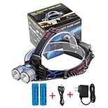 U'King® ZQ-X838B#-US 2*CREE XML-T6 4000LM LED 3Modes Headlamp Bicycle Lamp Kit Emergency Charging for your Mobile Devices