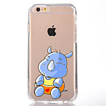 For iPhone 7 Cartoon Rhino TPU Soft Ultra-thin Back Cover Case Cover For Apple iPhone 7 PLUS  6s 6 Plus SE 5s 5 5C