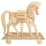 Jigsaw Puzzles Wooden Puzzles Building Blocks DIY Toys Trojan Horse 1 Wood Ivory Model & Building Toy