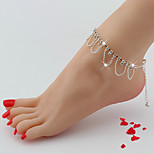 Women's Anklet/Bracelet Rhinestone Alloy Tassel Natural Friendship Fashion European Flower Silver Women's Jewelry For Party Daily Casual