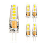 2W Silicone G4 LED Bi-pin Crytal Lights 10 SMD 2835 180 Lm Warm White / Cool White AC/DC 12V (5 pcs)