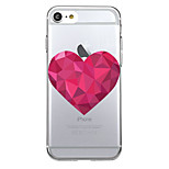 For Ultra-thin Transparent Case Back Cover Case Heart Soft TPU for iPhone 7 Plus  7  6s Plus 6 Plus  6s 6 se 5s 5
