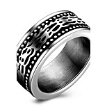 Men's Ring Statement Titanium Steel Unique Design Fashion Cool Punk Style Finger Rings Party Daily Casual Jewelry Hip-Pop