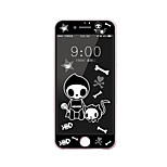 For Apple iPhone 7 Plus 5.5 Inch Tempered Glass Screen Protector with Soft Edge Full Screen Coverage Front Screen Protector Cartoon  Skull Pattern