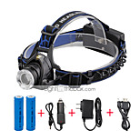U'King® ZQ-X811B#2-US CREE XML T6 LED Zoomable 2000LM Headlamp Headlight Bicycle Light for Camping Hiking