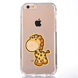 For iPhone 7 Cartoon  Giraffe TPU Soft Ultra-thin Back Cover Case Cover For Apple iPhone 7 PLUS  6s 6 Plus SE 5s 5 5C
