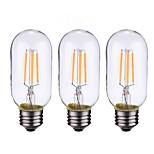 3PCS 4W B22/E27  LED Filament Bulbs T45 4COB 400 lm Warm White Dimmable AC 220-240 AC 110-130 V