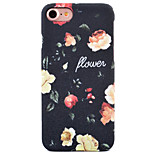 For Apple iPhone 7 7Plus 6S 6Plus Case Cover Flower Pattern Inside And Outside Matte PC Material Phone Case