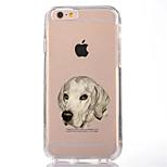 Per Transparente Fantasia/disegno Custodia Custodia posteriore Custodia Con cagnolino Morbido TPU per AppleiPhone 7 Plus iPhone 7 iPhone