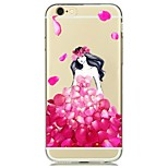 For Transparent Case Back Cover Case Fashion Girl Soft TPU for Apple iPhone 7 Plus/iPhone 7/iPhone 6s Plus/iPhone 6s/ iPhone 5