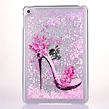 For Flowing Liquid Transparent Case Back Cover Case High Heels Heart Hard PC for ipad mini4