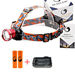 U'King® ZQ-X830R#2-US CREE XML-T6 LED 2000LM Zoomable 180 Rotate 3Modes Headlamp Bike Light Kits with Rear Safety LED