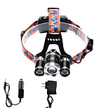 U'King® ZQ-X825B-US CREE XML-T6/2R5 LED Zoomable 4000LM Headlamp Headlight Bicycle Light for Camping Hiking