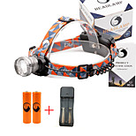 U'King® ZQ-X830S#3-EU CREE XML-T6 LED 2000LM Zoomable 180 Rotate 3Modes Headlamp Bike Light Kits with Rear Safety LED