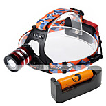U'king ZQ-G70000DRed CREE T6 LED 2000LM 3Mode Adjustable Focus Headlamp Bike Light Kit for Camping/Hiking/Caving Everyday Use Cycling