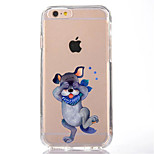 For Transparent Pattern Case Back Cover Case Lovely Dog Soft TPU for IPhone 7 7Plus iPhone 6s 6 Plus iPhone 6s 6 iPhone 5s 5 5E 5C