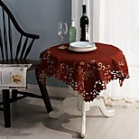 Embroidery Tablecloth Classical Tablecloth Christmas Tablecloth 85*85cm (34x34 inches)