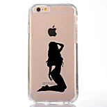 For iPhone 7 Sexy Lady TPU Soft Ultra-thin Back Cover Case Cover For Apple iPhone 7 PLUS  6s 6 Plus SE 5s 5 5C