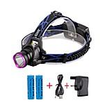 Hodelykter LED 2000 Lumens 3 Modus Cree XM-L T6 18650 Justerbart Fokus KompaktstørrelseCamping/Vandring/Grotte Udforskning Dagligdags