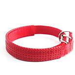 Dog Collar Adjustable/Retractable Solid Red Black Blue Nylon