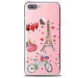 For IPhone 7 Case Back Cover Case TPU Tower And Cycling Romance Pattern for iPhone 7/ 7 Plus 6s/ 6 /6s Plus / 6 Plus/ SE / 5s / 5 /5C/ 4/4s