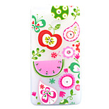 For Huawei P8 Lite (2017) P9 Lite Case Cover Fruit Pattern Painted Point Drill Scrub TPU Material Luminous Phone Case