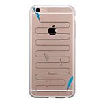 Pour Transparente Motif Coque Coque Arrière Coque Plume Flexible PUT pour AppleiPhone 7 Plus iPhone 7 iPhone 6s Plus iPhone 6 Plus iPhone