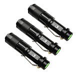 UKing ZQ-X965BX3 1500LM Cree XPE SK68 Zoomable Flashlight