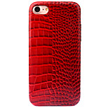 For Apple iPhone 7 7 Plus 6S 6 Plus Case Cover Crocodile Striae Pattern PC Material PU Paste Skin Combo Polished Glossy Phone Case