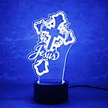 jul gud røre dæmpning 3d førte natlys 7colorful dekoration atmosfære lampe nyhed belysning christmas lys