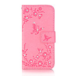 For Huawei P9 P9 Lite Case Cover Butterfly Love Flowers Pattern Embossed Point Drill PU Material Phone Case