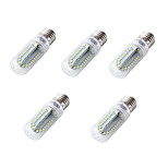 YouOKLight 5PCS E26/E27 4W 350LM AC/DC 12-24V 84xSMD2835 Cold White Light CRI80 LED Corn Bulbs Lamp