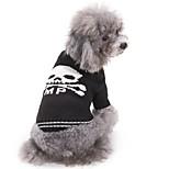 Gatti Cani Maglioni Abbigliamento per cani Inverno Teschi Di tendenza Casual Halloween Bianco/Nero