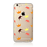 For Transparent Pattern Case Back Cover Case Tile Soft TPU for Apple iPhone 7 Plus iPhone 7 iPhone 6s Plus/6 Plus iPhone 6s/6 iPhone