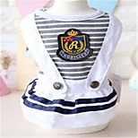 Dog Dress Dog Clothes Spring/Fall Stripe Casual/Daily