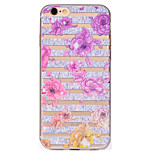 For Flower Pattern Soft TPU Material Phone Case for iPhone 7 Plus 7 6S Plus 6S 6 SE 5