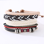 The New Vintage Cowhide Ancient Hand Woven Bracelet Cortical Layers Hand Rope Men's Bracelet Adjustable Size039