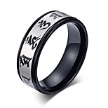 Ring Circle Steel Circle Black Jewelry For Daily 1pc