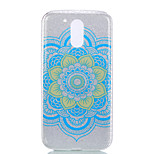 For Moto G4 Moto G4 PLUS Double IMD Case Back Cover Case Datura Flower pattern Soft TPU