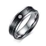 Ring Circular Steel Circle Black Jewelry For Daily 1pc