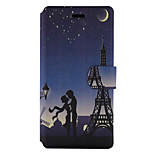 For Huawei P9 Lite P8 Lite (2017)  Case Cover Tower Pattern Painted PU Material Card Holder Mobile Phone Holster Phone Case Y5II Honor 5X P8 Lite