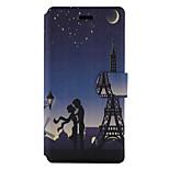 Per Porta-carte di credito Con supporto Con chiusura magnetica Fantasia/disegno Custodia Integrale Custodia Torre Eiffel Resistente